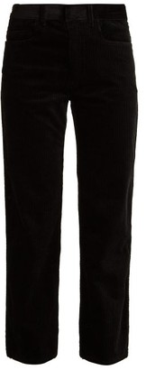 Haider Ackermann Straight Leg Stretch Cotton Corduroy Trousers - Womens - Black