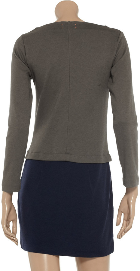 Chinti and Parker Cotton and cashmere-blend jersey dress