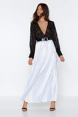 Nasty Gal Star Bright Metallic Skirt