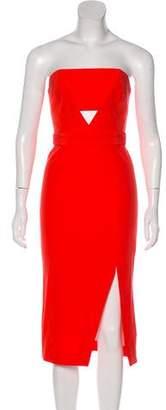 Nicholas Strapless Cut-Out Dress
