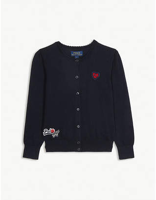 Ralph Lauren Patches cotton cardigan 2-14 years