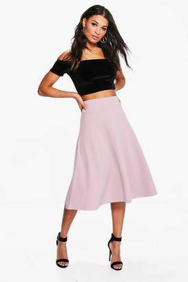 boohoo Royah Deep Waistband Full Midi Skirt