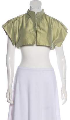Akris Silk Short Sleeve Bolero