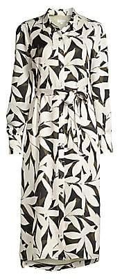 Equipment Women's Rosalee Palm Print Shirtdress