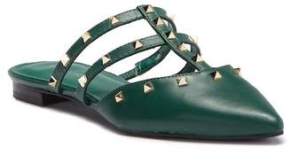 Marc Fisher Amazie Leather Studded Pointed Toe Mule