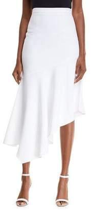 Michael Kors Asymmetrical Crepe Midi Skirt