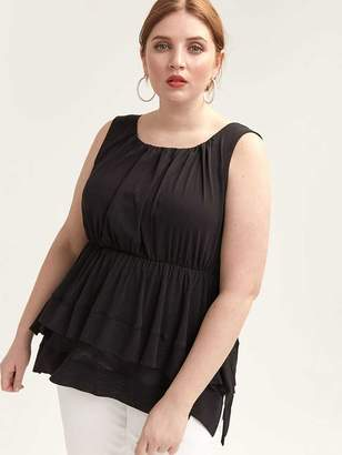Babydoll Top with Double Layer Hem