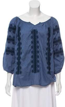 Gerard Darel Crosstitch Long Sleeve Blouse