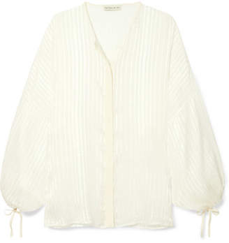 Etro Checked Silk-jacquard Blouse - White