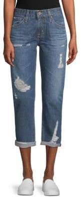 AG Jeans Ex-Boyfriend Distressed Cotton Jeans
