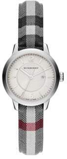 Burberry Diamond, Stainless Steel & Leather Strap Watch