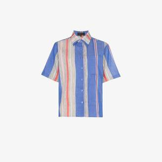 A Peace Treaty Tarouba stripe print cotton silk-blend shirt