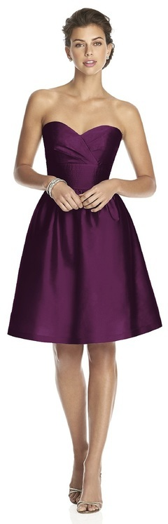 Alfred Sung - D542 Bridesmaid Dress in Italian Plum