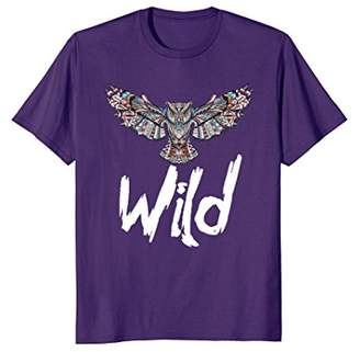 Wild Bohemian Owl! Boho Wildlife Bird Lover Fashion T-Shirt