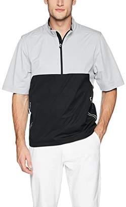 Cutter & Buck Men's Waterproof Packable Fairway Short Sleeve Half Zip Pullover