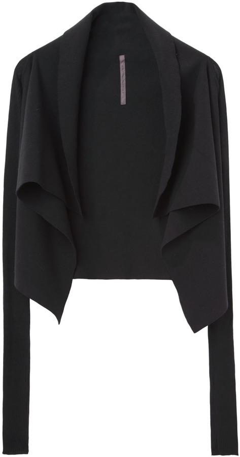Rick Owens Lilies / Cropped Open Front Cardigan