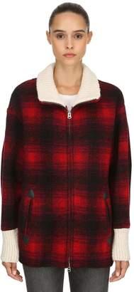 Etoile Isabel Marant Gimo Wool Blend Plaid Jacket