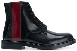 Calvin Klein contrast lace-up boots
