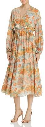 Elizabeth and James Norma Printed Silk Dress