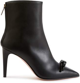RED Valentino Bow leather ankle boots