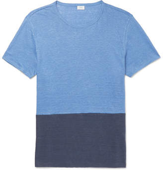 Onia Chad Colour-Block Linen T-Shirt