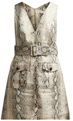 1882d91943f8 Zimmermann Corsage Python Print Linen Mini Dress - Womens - Python