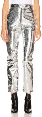 MSGM Patent Pant in Silver | FWRD
