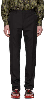 Fendi Black Striped Side Tape Trousers