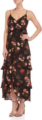 Lush Floral Ruffle Maxi Dress