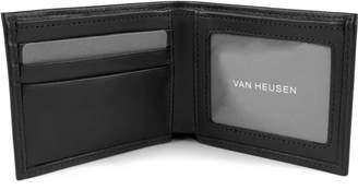 Van Heusen Men's RFID-Blocking Smooth Leather Slimfold Wallet