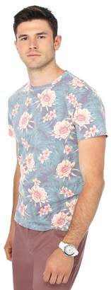 Red Herring Big And Tall Dark Green Floral Print Slim Fit T-Shirt