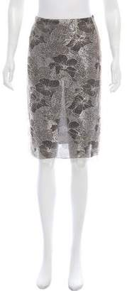 Blumarine Metallic-Accented Lace Skirt