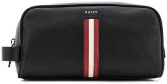 Bally stripe detail wash bag