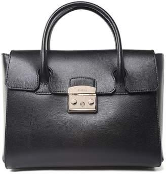 Furla Metropolis M Satchel Pebbled-leather Shoulder Bag