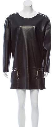 Anthony Vaccarello Leather Mini Dress