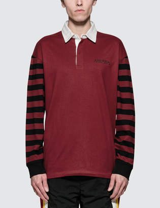 Perry Ellis L/S Stripe Rugby Shirt