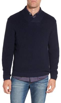 RODD AND GUNN Charlesworth Suede Patch Merino Wool Sweater