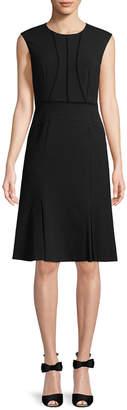 Rebecca Taylor Pique Lace Panel A-Line Dress