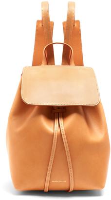 MANSUR GAVRIEL Mini unlined leather backpack $625 thestylecure.com
