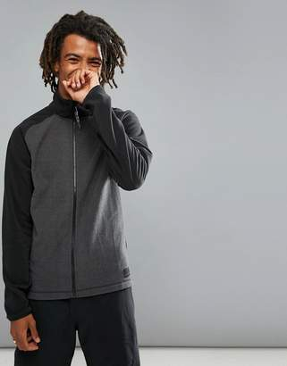 O'Neill Ventilator Full Zip Fleece Sweat Raglan in Gray/Black