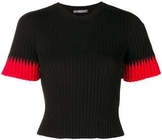 Alexander McQueen cropped ribbed knit top