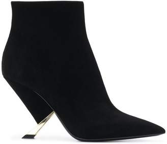 Casadei sculpted heel ankle boots