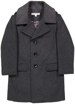Isaac Mizrahi Wool-Blend Button-Front Coat