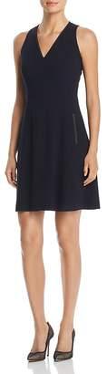 T Tahari Annalise Sleeveless V-Neck Dress