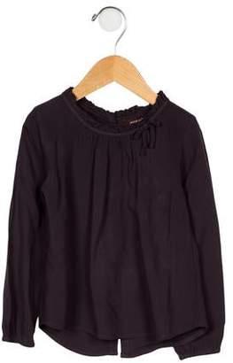 Imoga Girls' Ruffle-Trimmed Long Sleeve Top