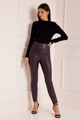 d2f98ffab5be Next Lipsy Abbey Clancy x Faux Leather Trousers - 4
