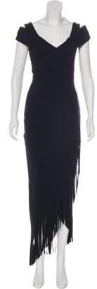 Chiara Boni Asymmetrical Maxi Dress Black Asymmetrical Maxi Dress