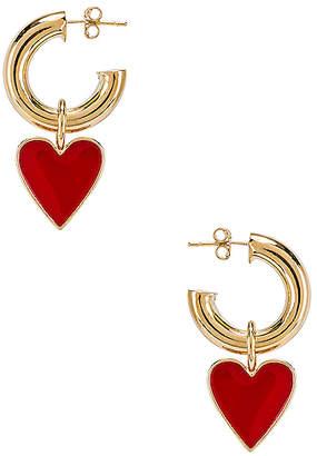 joolz by Martha Calvo Amour Enamel Hoop Earrings