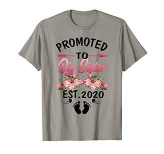 Womens Girls Promoted to Big Sister Est 2020 New Big Sister T-Shirt
