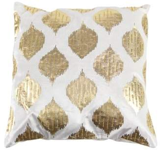 Decmode Modern 20 X 20 Inch Square White Cushion Cover In Spade-Shaped Inspired Patterns